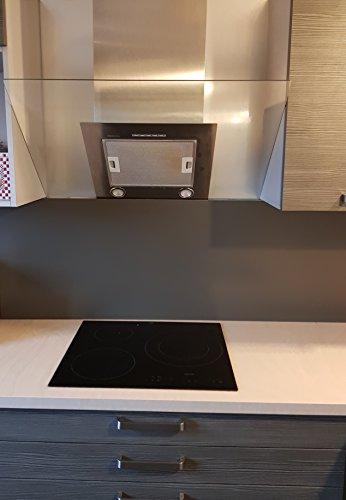 AluCouleur Fonde di cappa/Crédence in alluminio grigio terra d' ombra RAL...