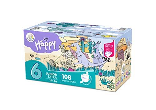 Bella Baby Happy - Pannolini taglia 6 Junior Extra, confezione da 1 (1 x 108 pezzi)
