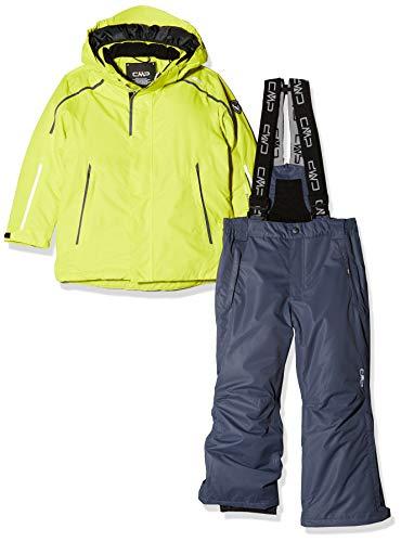 CMP Feel Warm Flat 3.000, Set Giacca E Pantaloni Imbottiti Bambino, Limeade, 110