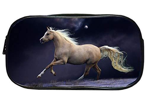 KELUOSI - Astuccio portapenne a forma di cavallo per ragazze, ragazzi e bambini 22x11x6cm Couleur-04
