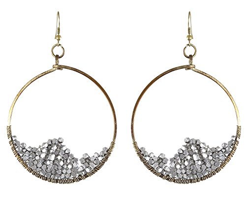 Arittra Alloy Tribal Design German Silver Golden Earring in Antique Finish Girls and Women-Valentine gift,todays,deal,party,casual,discount,offer,sale,clearance,lightning,festival,fashion,wedding,summer