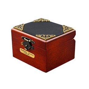 Minicaja musical de madera YouTang (TM), de estilo retro con 18 notas, juguete con diferentes melodías, madera, Design2, Tune:Lilium from Elfen Lied