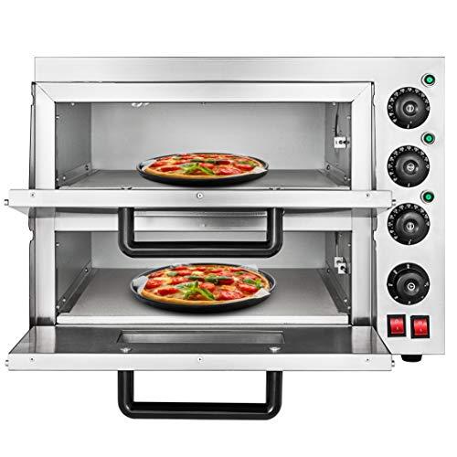 OldFe 3KW Forno Pizza Elettrico Professionale 350℃ Forno Per Pizza In Acciaio Inox 55 x 52x 43cm...
