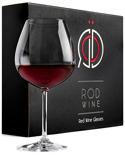 Set di Bicchieri da Vino Rosso - Calici in Cristallo di Titanio Senza Piombo, con Ampia Coppa da 650...