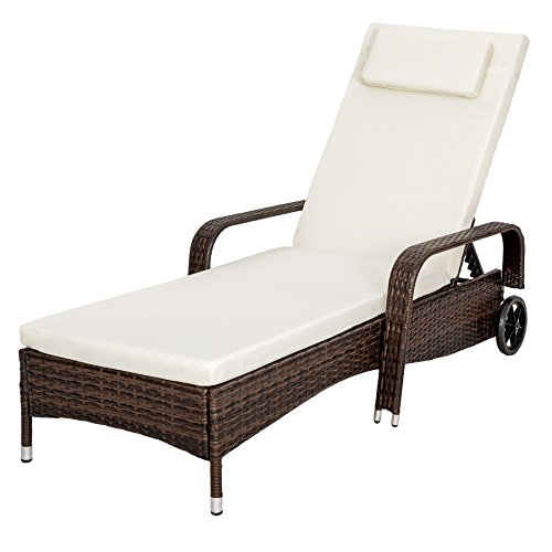 No doubt, the TecTake Rattan day bed sun canopy lounger recliner garden furniture patio terrace looks very lovely. The design is great, with a large lounging surface, armrests, and adjustable backrest. The fact that this sun lounger can be used indoors and outdoors is a huge plus. We also like the mobility of this product. The only downside is with the assembly of this sun lounger. But once set up, it's such an admirable piece of furniture wherever it goes.