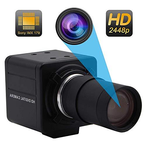 Svpro USB Web Camera Varifocal 5-50mm Obiettivo 8Megapixel (1/3.2 '') IMX179 Windows, Android, Linux Raspberry Pi camera 8mp Mini USB Camera(SV-USB8MP02G-MFV(5-50mm))