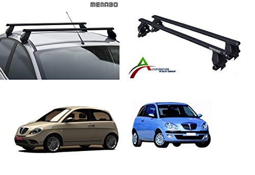Barre PORTATUTTO Portapacchi da Tetto per Auto Senza RAILINGS, Sistema di Montaggio con Barre + Kit...