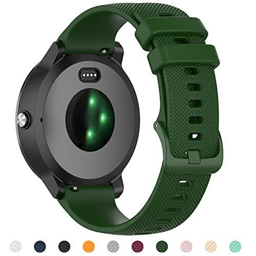 Tosenpo - Cinturino Garmin Vivoactive 3 / Vivoactive 3 Music/Forerunner 245/645 Music (Army Green)