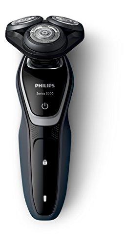 Philips S5110/06 - Afeitadora eléctrica, uso en seco, con recortador de precisión SmartClick y tapa protectora del cabezal, color negro
