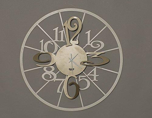 orologio da parete moderno kalesy arti e mestieri metallo colore bronzo nocciola