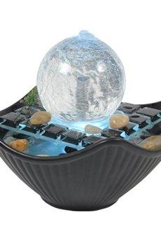 Zen' Light Sidney Fuente cerámica/Cristal Negro/Blanco 23x 23x 18cm