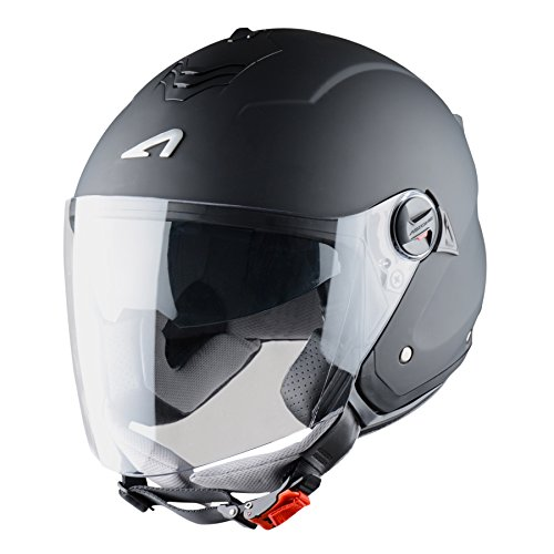 Cascos de moto baratos Astone Helmets Mini Jet, color Negro Mate