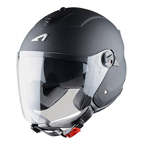Cascos de moto baratos Astone Helmets Mini Jet, color Negro Mate