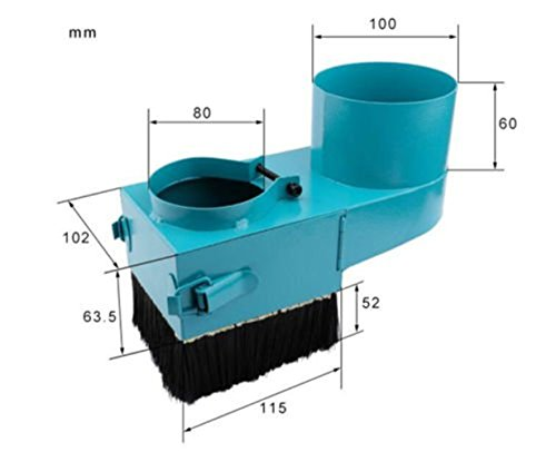 Eleoption 80mm Spindle Dust Shoe Cover Cleaner For CNC Router Engraving Milling Machine