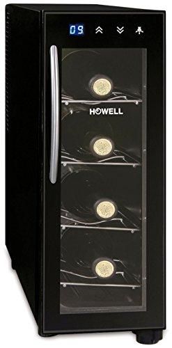 Howell HO. CV040 Cantinetta per Vino, 4 Bottiglie, Nero