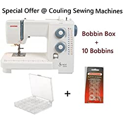 Janome Sewist 525S Sewing Machine + Bobbin Box + 10 Bobbins - Offer @ Couling's