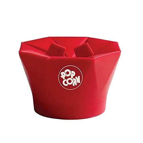 Microondas Utensilios de Cocina Fabricante de Palomitas de Maíz Magia Recipiente de Cocción Silicona Rojo / Verde