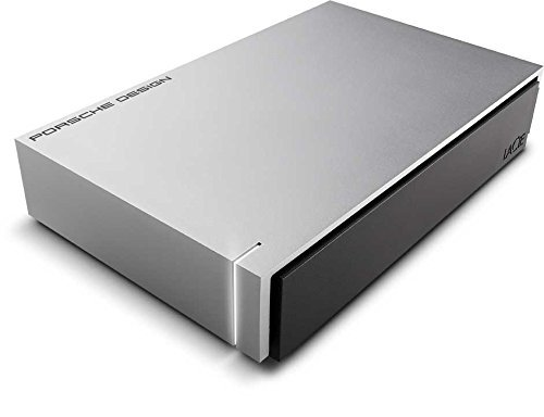 LaCie Porsche Design Desktop Drive 8000GB Silver external hard drive - external hard drives (8000...
