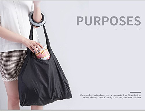 Baskety New Design Shopping Bag Rolling up in Small case Foldable Polyester Shopping Bag
