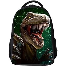 Mochila de escuela de dinosaurio 3D para niños Animal Print Deign Mochila escolar mochilas de computadora portátil