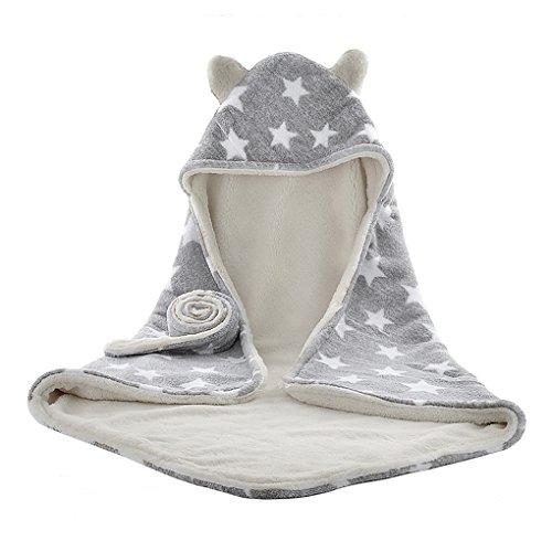 Neugeborene Decke Tuch von Baby Bademäntel für Neugeborene Kapuzenbadetuch für Schlafsack Schlaf Tasche für Kinderwagen für Baby Handtuch/Mantel mit Kapuze für 0–1Jahr