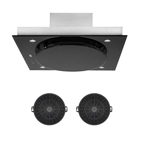 Klarstein Secret Service - Cappa da Cucina, Cappa ad Isola, Cappa Aspirante, 110cm, 800m³/h, 3...