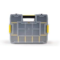 Stanley Organizer SortMaster Junior Werkzeugbox leer 1-97-483 / Stapelbarer Sortimentskasten aus Kunsstoff mit 14 individuell anpassbaren Fächern für Kleinteile & Werkzeug
