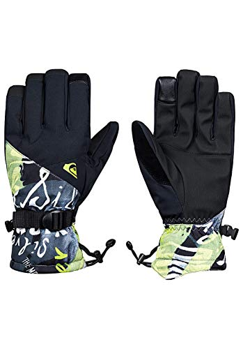 Quiksilver Mission, Gloves Uomo, Black/Construct, M