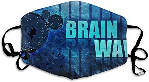 ingshihuainingxianruangangs Maschere per la Bocca Brain Wave Riutilizzabile Maschera Lavabile Earloop, Copertura per Il Viso per allergia Solare Esterna alla Polvere