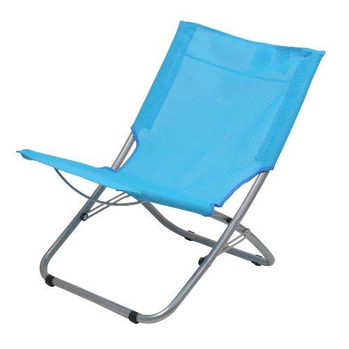 10T Sunchair – Mobiler Camping-Stuhl Strandstuhl faltbar Textilene hellblau 2700g leicht