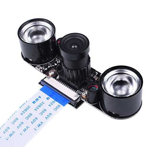 Kuman 5MP SC15 Per Raspberry Pi 3 Modulo B B+A+RPi, Fotocamera Visione Notturna A Infrarossi Modulo 1080p OV5647 Sensor HD Video Webcam Supports Night Vision