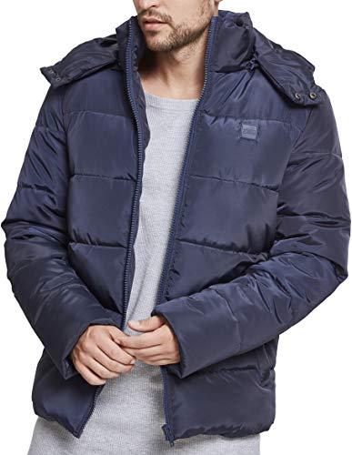 Urban Classics Hooded Puffer Jacket Cappotto, Blau (Navy 00155), XXXXXL Uomo