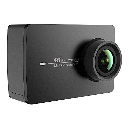 Yi 4K Action Camera 4K/30fps Video Registrazione 12MP Actioncam con 155° grandangolare 5,56cm (2,2pollici) LCD Touch Screen, WiFi e App per Smartphone, comandi vocali–Nero