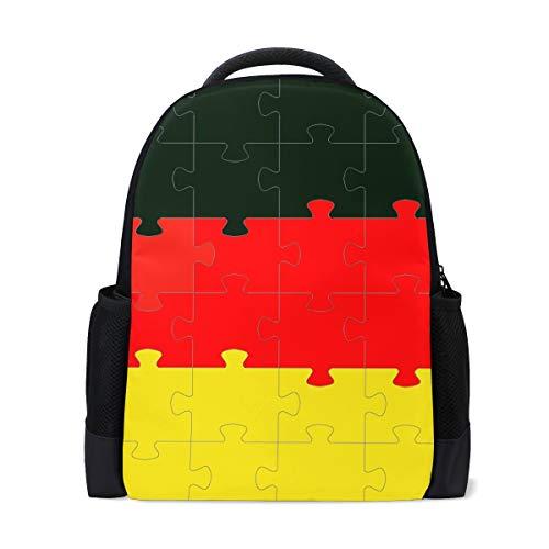 DEZIRO poliestere Bandiera tedesca puzzle scuola confezione borsa da viaggio