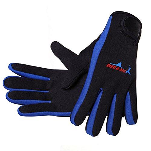 NaiCasy Wetsuits - Guanti da sub in neoprene da 1,5 mm, taglia L, colore: Blu