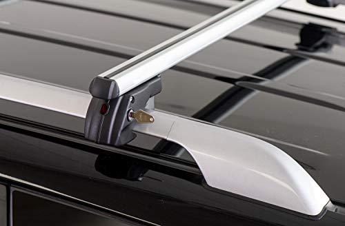 Barre PORTATUTTO Portapacchi Sherman XL per Lancia MUSA dal 2007 al 2012 con Railing (CORRIMANO...