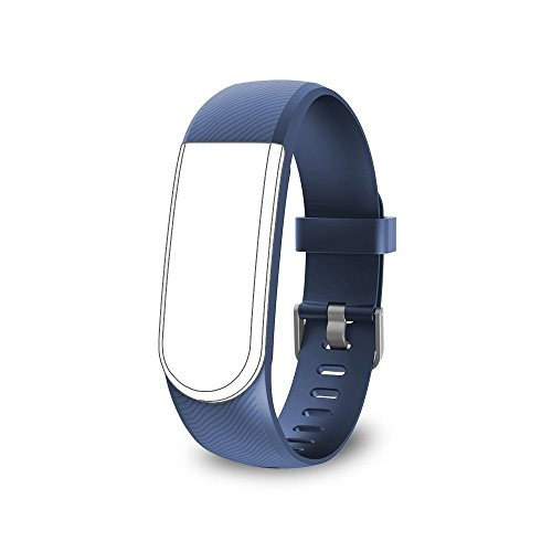 endubro Cinturino per Tutti Fitness Tracker ID101 HR / ID101 & Molti Altri Modelli Realizzato in TPU Skin-Friendly con Chiusura antiallergica (Blu)
