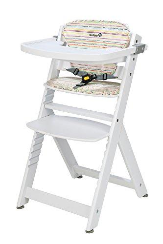 Safety 1st 27608830 Seggiolone Timba in legno, con cuscino, Colore: bianco