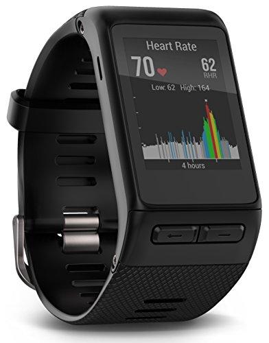Garmin Vívoactive HR - Reloj con pulsómetro integrado, unisex, color negro, talla XL