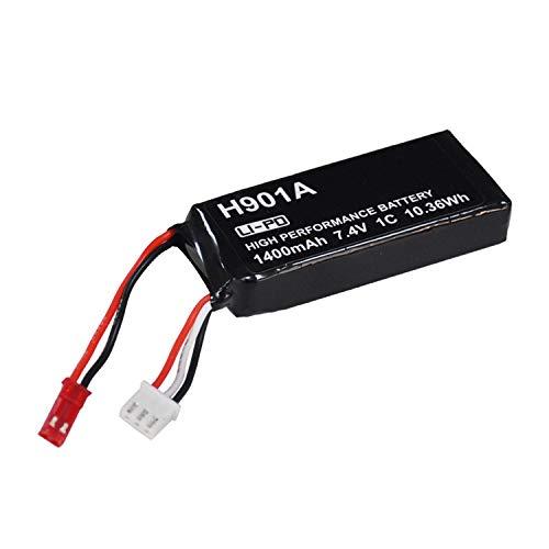 Zantec Batteria Ricaricabile da 7,4 V 1400 mAh Lipo del Telecomando Trasmettitore Hubsan H107D /...