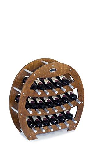 Mobili in legno CANTINETTA IN LEGNO DI NOCE - MODELLO 'BOTTE' - CAPIENZA 18 BOTTIGLIE