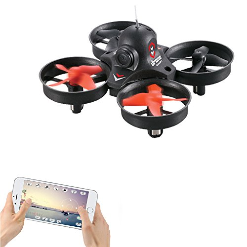 LiDi RC L10 Mini WIFI Trasmissione in tempo reale Droni con telecamera HD 0.3MP HD 3D RC Quadcopter