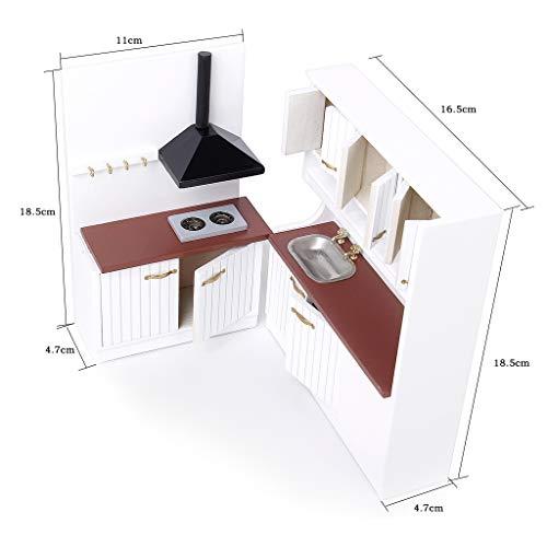 Mobili Casa Delle Bambole Da Cucina In Legno Set Scala 1/12