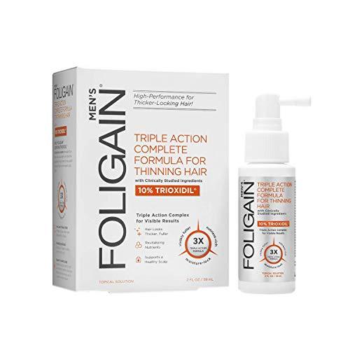 Foligain Spray Ricrescita Uomo   Trioxidil 10%   Combatte La Calvizie e Rinforza il Cuoio Capelluto   Spray Topico   Confezione Da 59ml