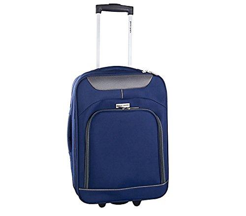 Trolley bagaglio a mano 161038 PIERRE CARDIN in tessuto 46 x 33 x 16.5 cm. MEDIA WAVE store  (Avion)