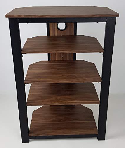 Gecko Tower TOW500 - Mobiletto per sistema Hi-Fi con 5 mensole in legno