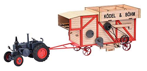 Schuco-450898900-Tracteur-Modle-Set-Lanz-Bulldog-avec-batteuse-Echelle-132