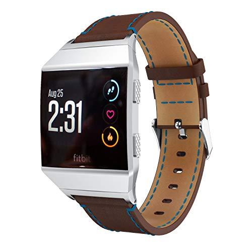 Chainfo Compatibile con Cinturino Fitbit Ionic, Ultrasottile Pelle Cinturini Compatibile con Fitbit Ionic (Caffè)