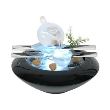 Zen Luz SCFV01 Tea Time Fuente Interior Negro 25 x 25 x 20 cm 3