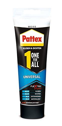 Pattex One for All Universal, Kombination aus Montagekleber und einer Fugendichtmasse, 142 g, 1 Stück, weiß, PXO80
